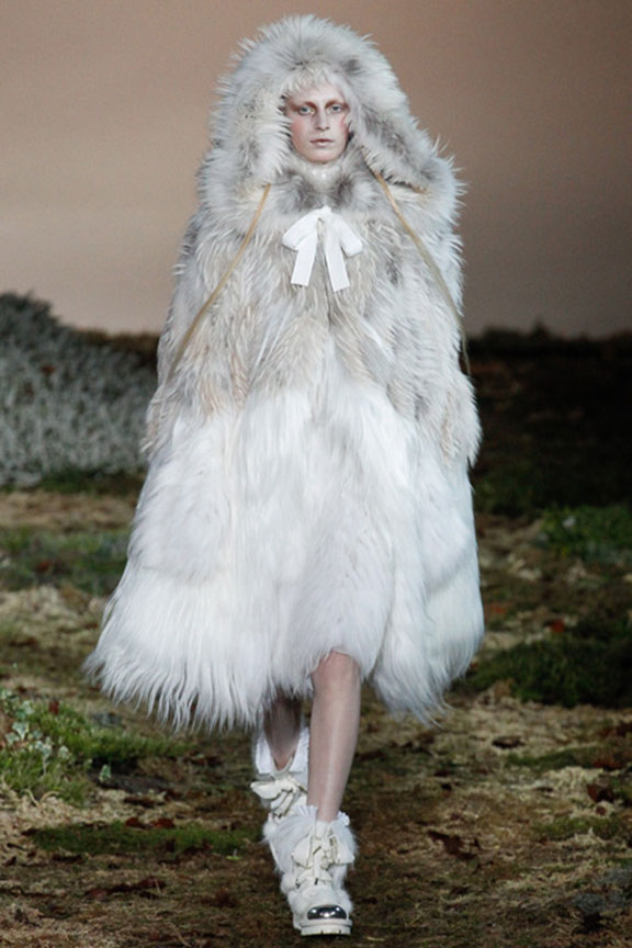 A.McQueen in FUR coat