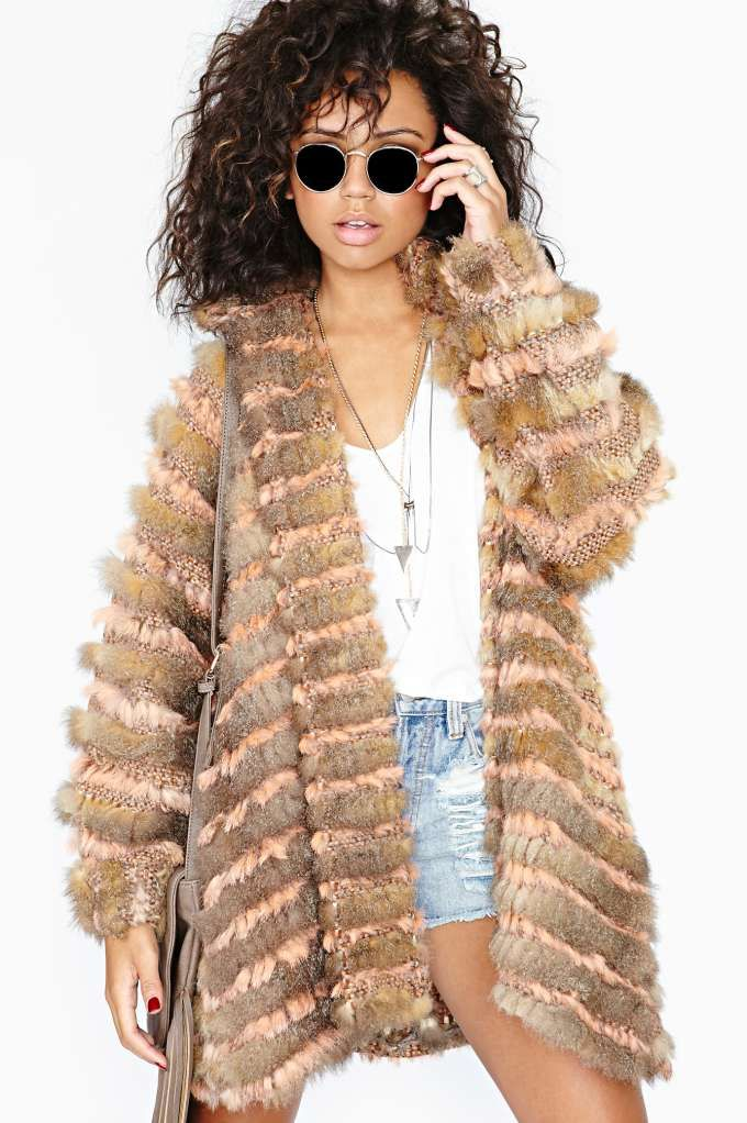 Rabbit fur coat 5