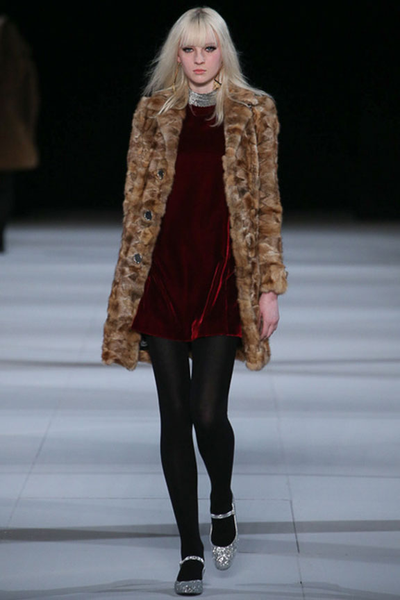 S.Laurent in FUR coats