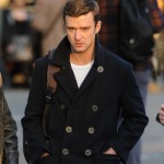 Justin Timberlake in a peacoat